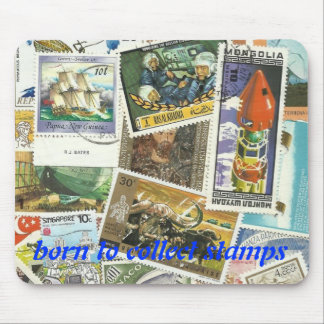 BORN TO COLLECT STAMPS MOUSEPAD