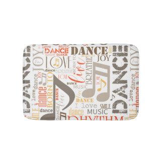 Born to Dance Brown ID277 Bath Mat