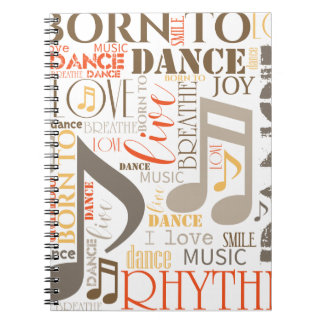 Born to Dance Brown ID277 Notebook