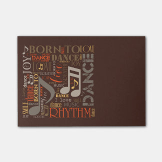 Born to Dance Brown ID277 Post-it® Notes