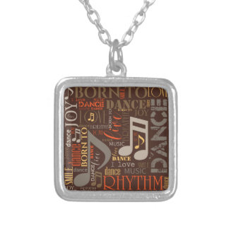Born to Dance Brown ID277 Silver Plated Necklace