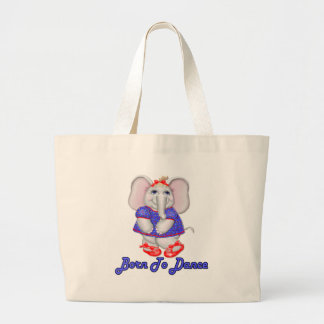 Born to Dance Large Tote Bag