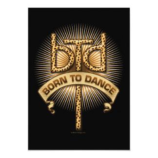 Born To Dance (Leopard) Party Invitation