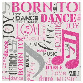 Born to Dance Pink/Black ID277 Fabric