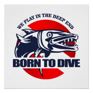 Born to Dive (Barracuda) Poster