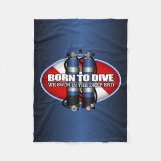 Born To Dive (ST) Fleece Blanket