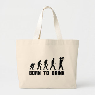 born to drink evolution tote bags