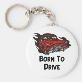 Born To Drive Basic Round Button Key Ring