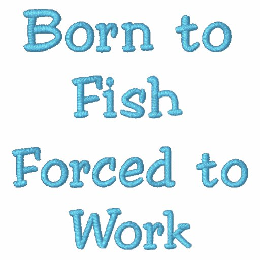 Born to Fish Forced to Work Hoody