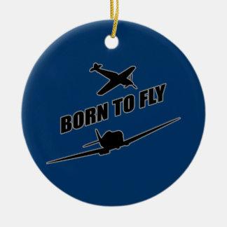 Born To Fly Round Ceramic Decoration