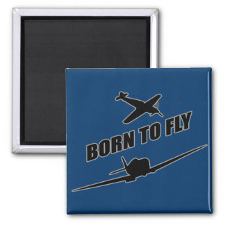 Born To Fly Square Magnet