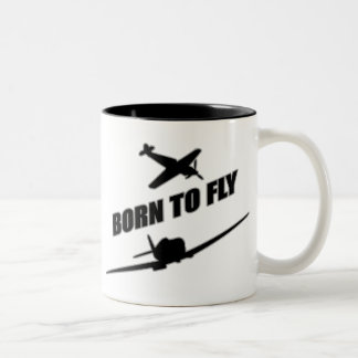 Born To Fly Two-Tone Coffee Mug