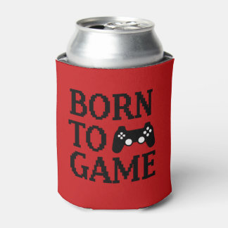 Born to game funny gamer can cooler
