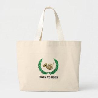 born to horn wreath jumbo tote bag