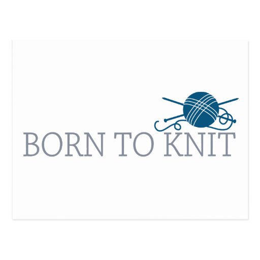 Born To Knit Post Cards