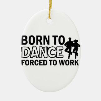 born to line-dance ceramic ornament