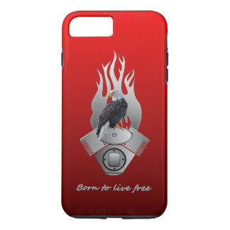 Born to live free iPhone 7 plus case