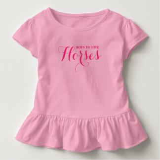 Born to Love Horses Toddler T-Shirt