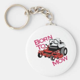 Born To Mow Basic Round Button Key Ring