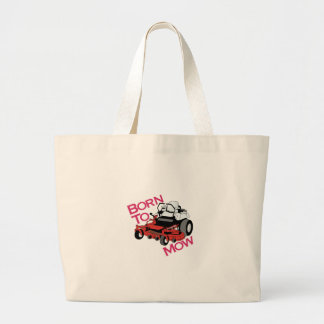 Born To Mow Jumbo Tote Bag