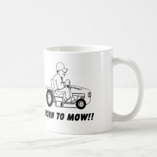 Born To Mow Basic White Mug