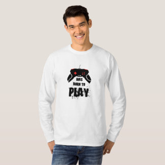 Born to Play, Basic Long Sleeve T-Shirt, White T-Shirt