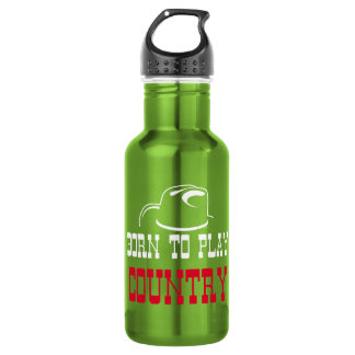 Born to play country 532 ml water bottle