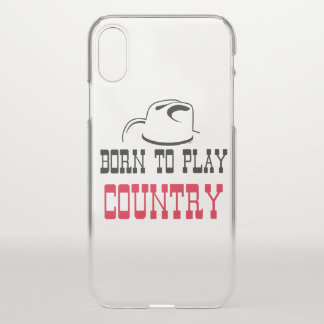 Born to play country iPhone x case