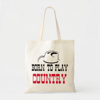 Born to play country tote bag