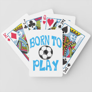 born to play football bicycle playing cards