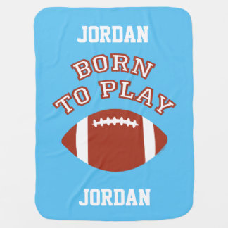 Born To Play Football Buggy Blanket
