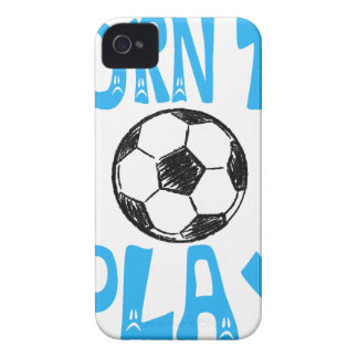 born to play football iPhone 4 Case-Mate case