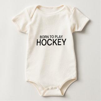 Born to play hockey baby bodysuit