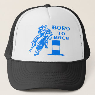 BORN TO RACE TRUCKER HAT