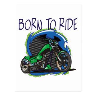 Born To Ride a Sweet Chopper Postcard