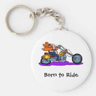 Born to Ride Basic Round Button Key Ring