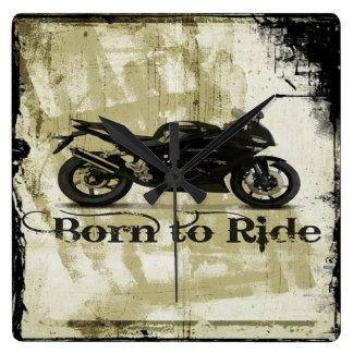 Born To Ride Square Wall Clock