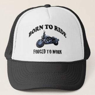 BORN TO RIDE TRUCKER HAT