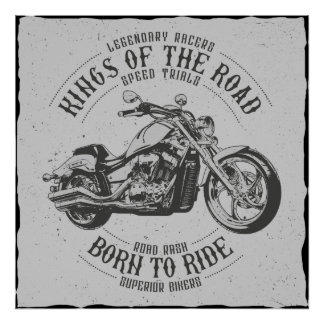Born to Ride Wallart Poster