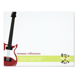 Born to Rock! Custom Flat Note Cards (red) 11 Cm X 14 Cm Invitation Card