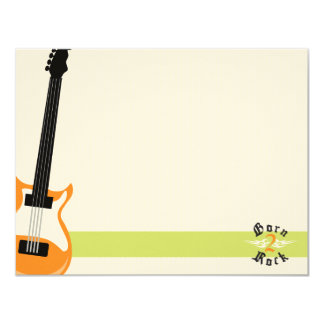Born to Rock Flat Note Cards (MTV) 11 Cm X 14 Cm Invitation Card