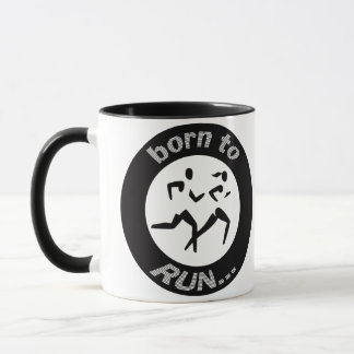 BORN TO RUN GEAR ATHLETIC RUNNING GEAR MUG