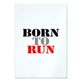Born to Run Custom Announcements