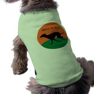 Born to Run- Italian Greyhound design Sleeveless Dog Shirt