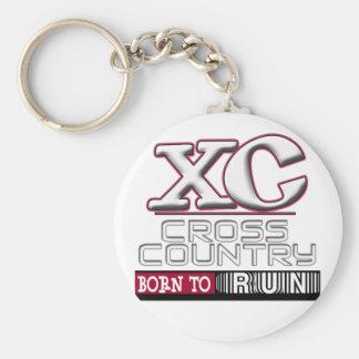BORN TO RUN XC CROSS COUNTRY KEYCHAIN