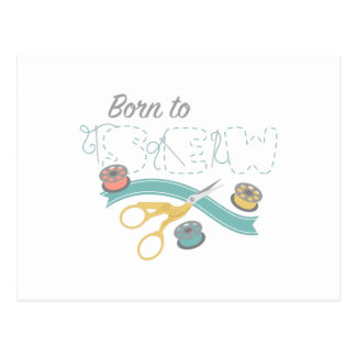 Born To Sew Postcard
