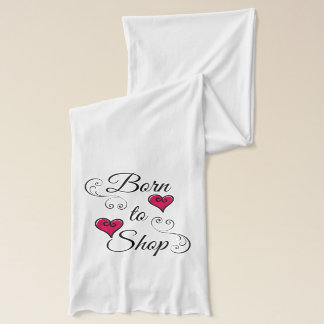 Born to Shop Hearts Scarf