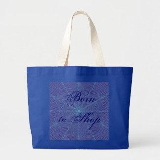 Born to Shop Jumbo Tote Bag