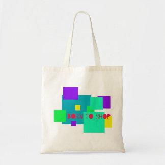 Born to Shop Tote Canvas Bag