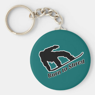 Born To Shred Basic Round Button Key Ring